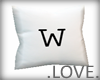 .LOVE. Letter w Pillo