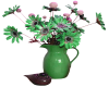 Green Vase and Flowers