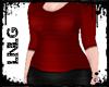 L:BBW Dress-Casual Red