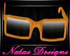 orange nerd glasses m