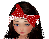 red pokadot bow