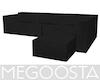 Solid Black Sofa