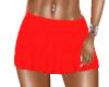 Skirt Ruffled Red