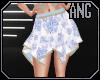[ang] Blue Flutter Skirt