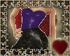 snakeskin dress purp&blk