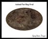 Animal Skin Fur Rug Oval