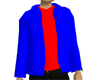 Blue Jacket / Red Shirt