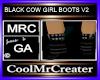 BLACK COW GIRL BOOTS V2