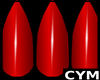 Cym Red Bleez Nails