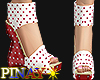 Polka dots wedge