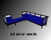 {JB} Blue L-shaped Sofa