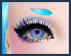 *E Kawaii Blue Eyebrows