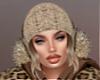 T- Hat  w/hair beige