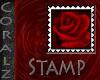 Red Rose Velvet Stamp