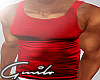Muscle Red Tank Top