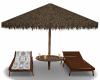 Beach Chairs & Umbrella