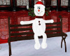 ~TQ~Snowman Bench wood