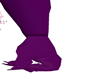 purple long glove