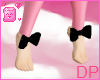 [DP] Feetsie Bows~ Black