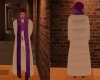 Purple White Fur