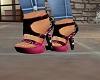 black an fushia heels