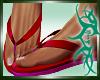 :)Hawaiin M Flip Flops
