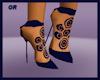 Twister Navy Blue Heels
