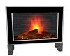 elegant black fire place