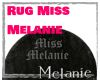 Rug Black Melanie