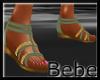 Green Flat Sandals