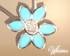 Spring Daisy Necklace Bl