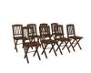 8pc Wood Folding Chairs