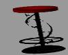 black red bar stool