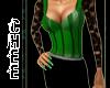 *Chee: Green Stripe Dres