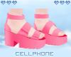 dark pink platforms 💕