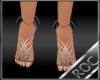 *ROC*Silver Glitter Heel