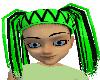 Neon Green Spider Dreads