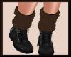Fall Knit Boots BlkBROWN