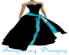 Blk Turquoise Gown