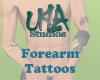 All forearm Tattoos