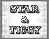 Star Tiggy floor sign