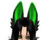 (CF) Grn/Blk Wolf Ears
