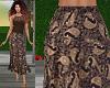 TF* Brown Paisley Skirt