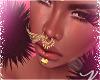 ~V~PomPom Black Earrings