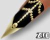 [zuv] black gold nails