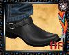 Sharp Cowboy Boots Black