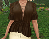 TF* Brown Silk Blouse