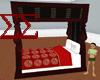 BlackCherry Medieval Bed