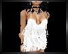 White fringed mini dress