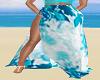 Blue White Boho Skirt